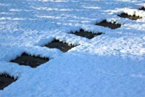 Śnieg lub jego brak ujawnia cieplejsze i chłodniejsze mikroklimaty